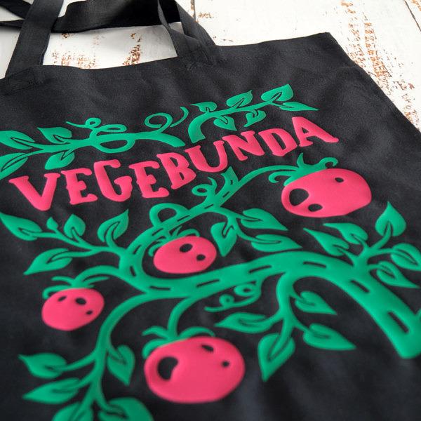 vegebunda - torba z nadrukiem w kształcie gałązki pomidorów